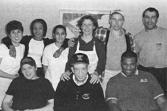 Photo of Whitehead caf staff from 2000