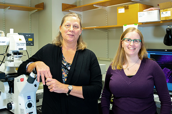 Whitehead Institute's Nicki Watson and Wendy Salmon